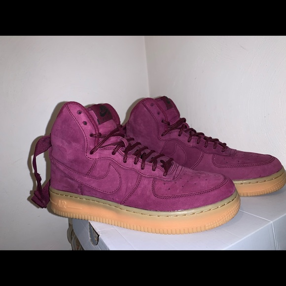 nouveau concept b496a 89b61 Air Force One High WB Bordeaux NWT